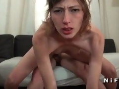 Skinny french milf hard anal fucked